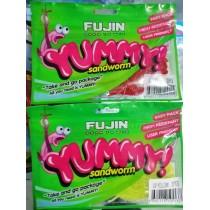 Fujin Yummy Sandworm Kokulu glowlu UVli silikon
