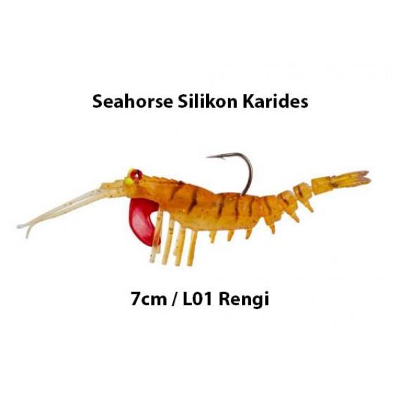 Seahorse L01 7cm Silikon Karides (Bal Rengi)