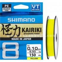 Shimano Kairiki 8 Örgü 150m Yellow 0.10mm 6.5kg çekerli İp Misina